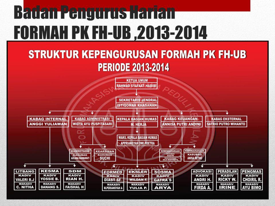Badan Pengurus Harian FORMAH PK FH-UB,2013-2014