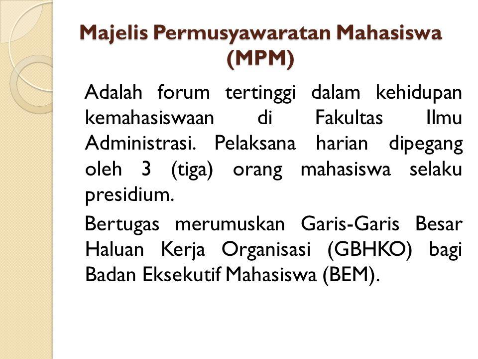 STRUKTUR ORGANISASI LEMBAGA KEGIATAN MAHASISWA FAKULTAS ILMU ADMINISTRASI UB