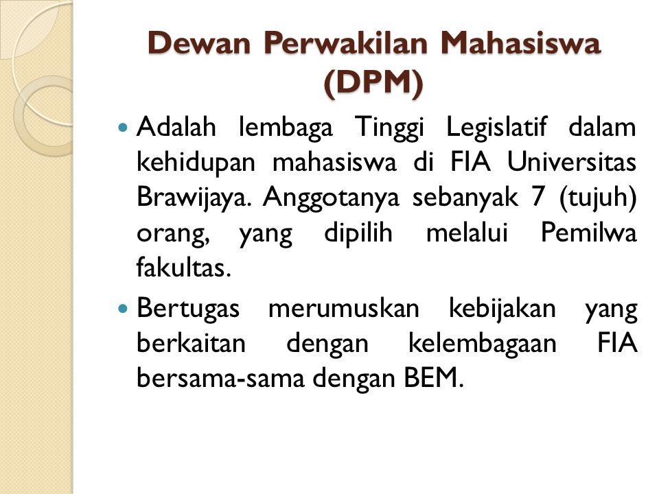 Badan Eksekutif Mahasiswa (BEM) Adalah lembaga tinggi eksekutif dalam kehidupan kemahasiswaan di tingkat fakultas. Ketua Umum disebut Presiden dipilih