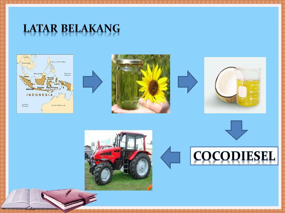 Untuk mengevaluasi kinerja tarik (drawbar performance) traktor pertanian roda empat dengan menggunakan bahan bakar biodiesel yang dibuat dari minyak kelapa (cocodiesel) pada berbagai komposisi campuran