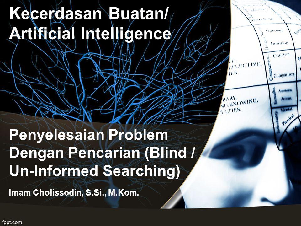 Penyelesaian Problem Dengan Pencarian (Blind / Un-Informed Searching) Imam Cholissodin, S.Si., M.Kom. Kecerdasan Buatan/ Artificial Intelligence