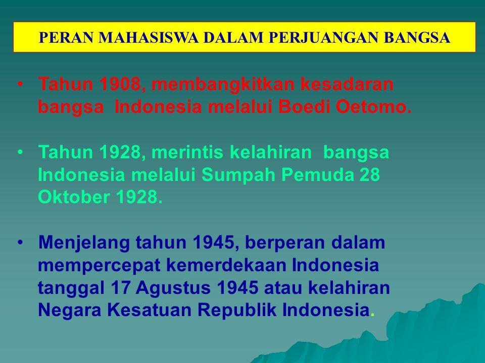 Pada tahun 1946-1949 merupakan masa perang kemerdekaan, para mahasiswa bergabung di dalam tentara pelajar (TP/TRIP) bahu-membahu dengan rakyat dan TNI untuk melawan Belanda.
