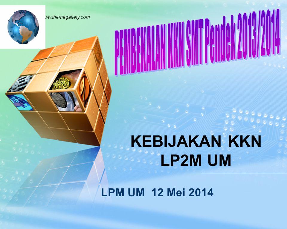 LOGO www.themegallery.com LPM UM 12 Mei 2014 KEBIJAKAN KKN LP2M UM