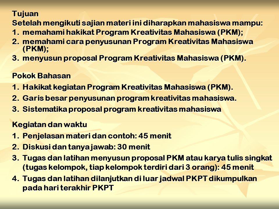 PROGRAM KREATIVITAS MAHASISWA (PKM) Tim Panitia PKPT UM