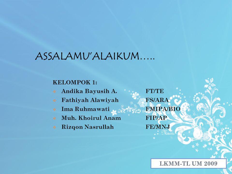 ASSALAMU'ALAIKUM…..