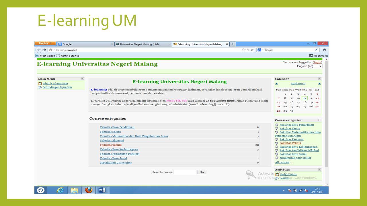 E-learning UM