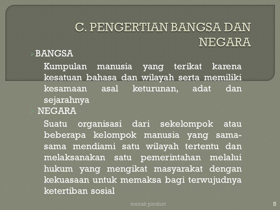 16 meirah product i.UU No.20/1954 --- tentang Pokok-Pokok Perlawanan Rakyat (PPPR) ii.Tap No.IV/MPR/1973 --- tentang GBHN yang didalamnya menjelaskan Wawasan Nusantara dan Ketahanan Nasional iii.UU No.20/1982 --- tentang Ketentuan- Ketentuan Pokok Pertahanan Keamanan Negara Republik Indonesia iv.UU No.20/2003 --- tentang Sistem Pendidikan Nasional yang didalamnya antara lain membahas Pendidikan Pendahuluan Bela Negara