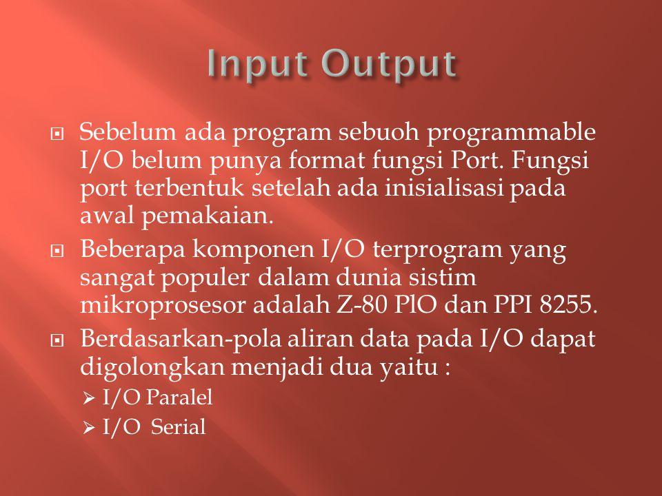  Sebelum ada program sebuoh programmable I/O belum punya format fungsi Port.