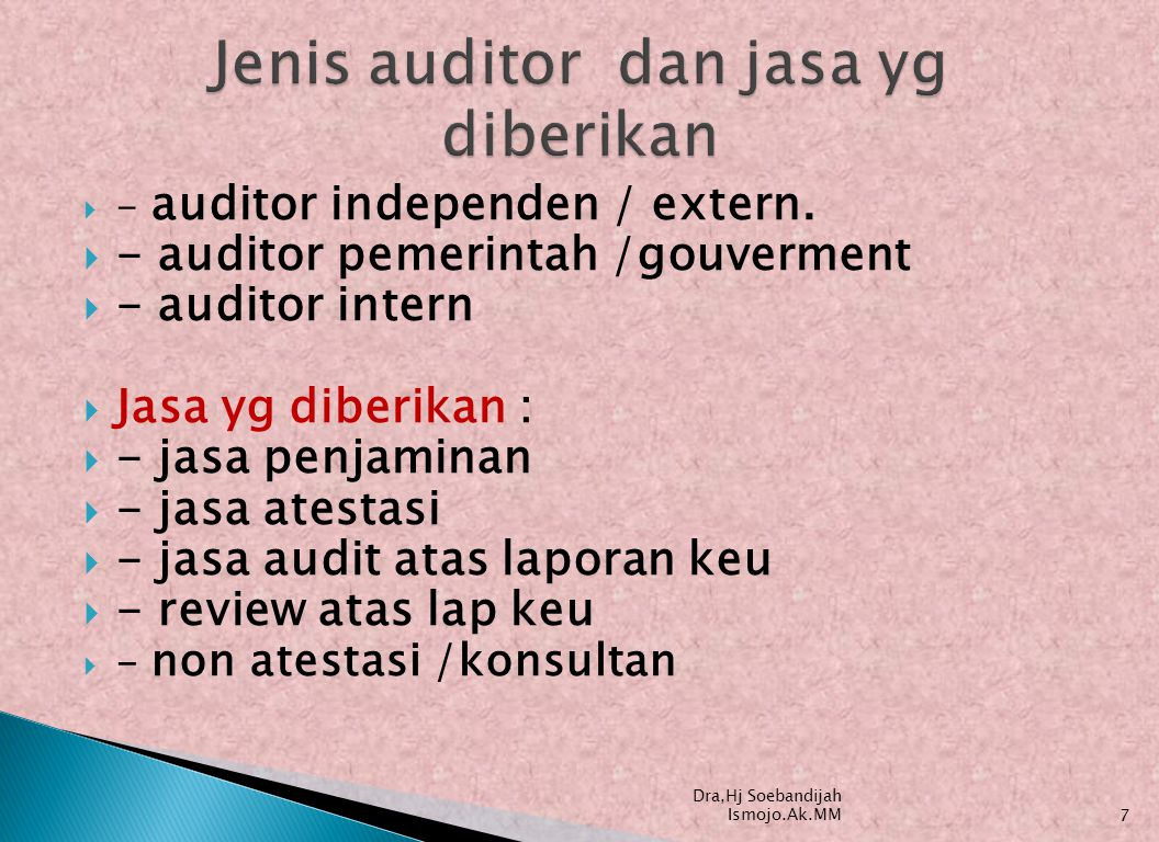  - auditor independen / extern.
