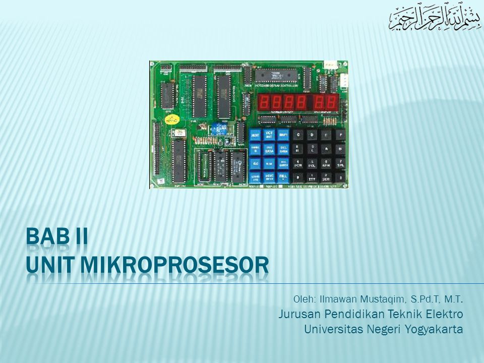  Gambaran atau features dari sebuah mikroprosesor dapat dipelajari dengan baik melalui pemahaman dan pengkajian Internal Software-Hardware Design, yang disebut juga dengan istilah Architecture.