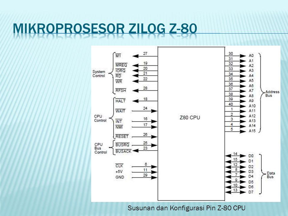 Susunan dan Konfigurasi Pin Z-80 CPU