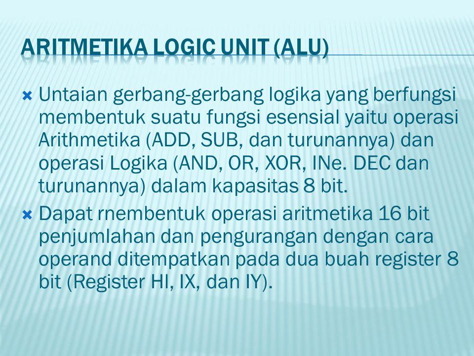  Untaian gerbang-gerbang logika yang berfungsi membentuk suatu fungsi esensial yaitu operasi Arithmetika (ADD, SUB, dan turunannya) dan operasi Logik