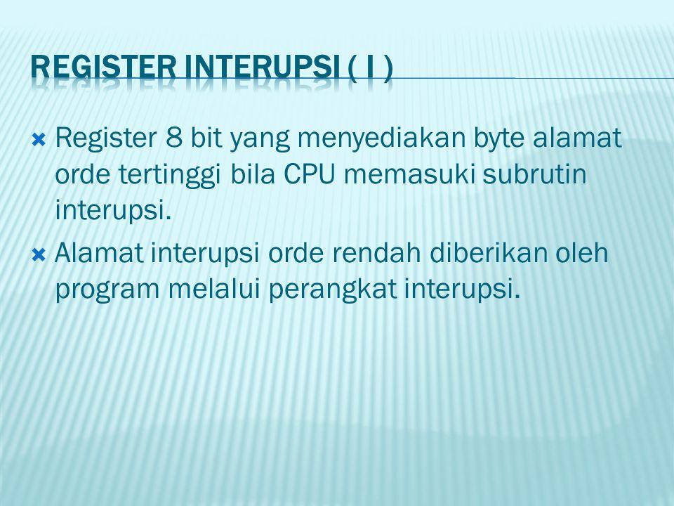 Register 8 bit yang menyediakan byte alamat orde tertinggi bila CPU memasuki subrutin interupsi.  Alamat interupsi orde rendah diberikan oleh progr