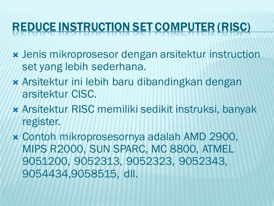  Jenis mikroprosesor dengan arsitektur instruction set yang lebih sederhana.  Arsitektur ini lebih baru dibandingkan dengan arsitektur CISC.  Arsit
