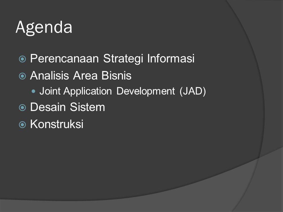 Joint Application Development  Teknik penemuan fakta yang melibatkan user pada proses pengembangan, sebagai partisipan aktif.