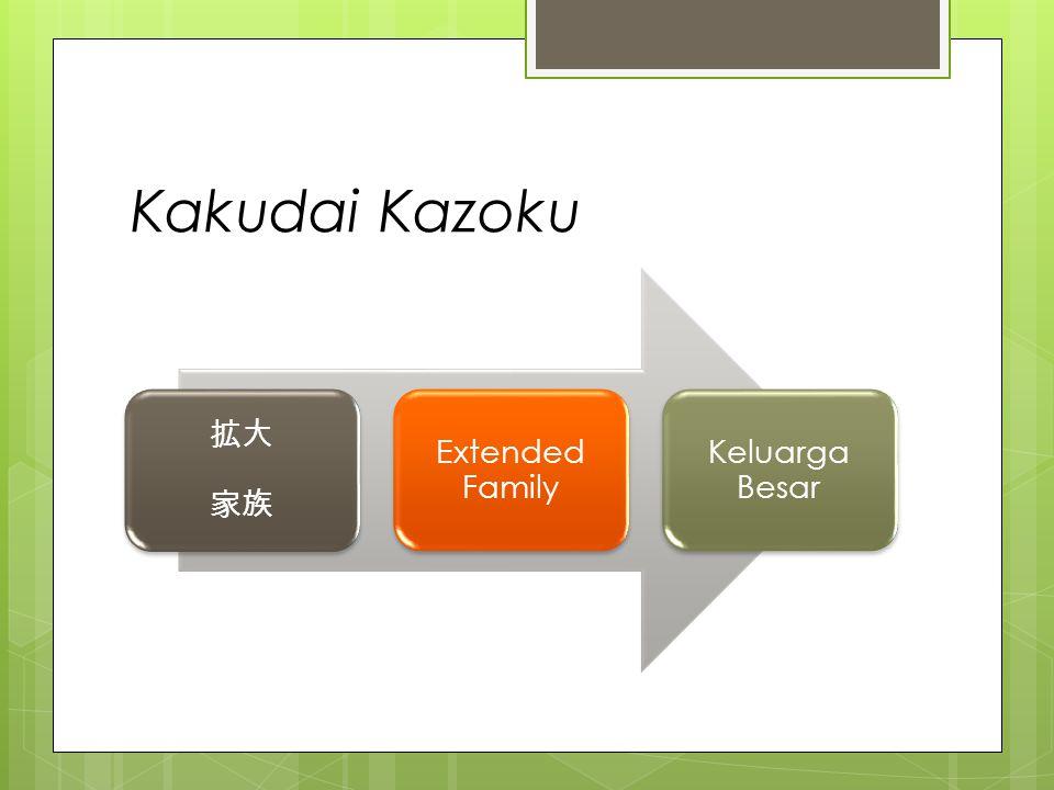 Kakudai Kazoku 拡大 家族 Extended Family Keluarga Besar