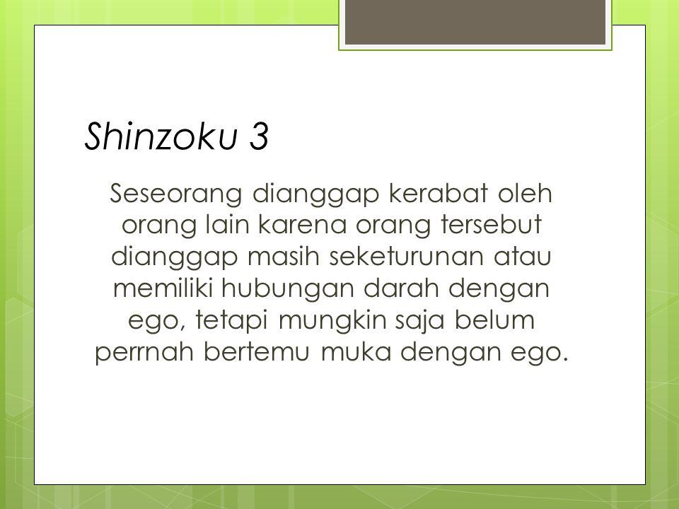 Shinzoku 4 Ego Individu 1Individu 3Individu 4Individu 2Individu 5