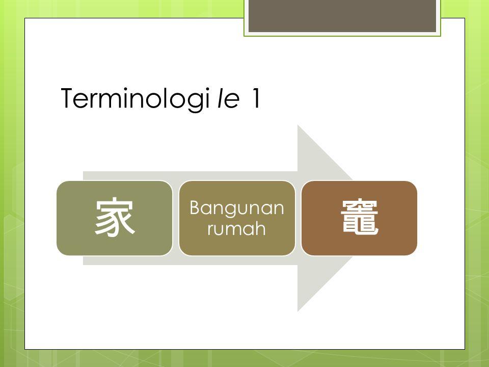 Terminologi Ie 1 家 Bangunan rumah 竈