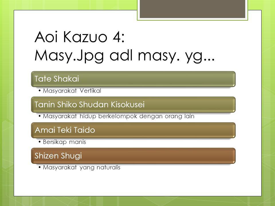 Takeda Chosu 1 Sama dengan Aruga Kizaemon, dimana dasar kelangsungan ie ditopang oleh keberadaan kacho.