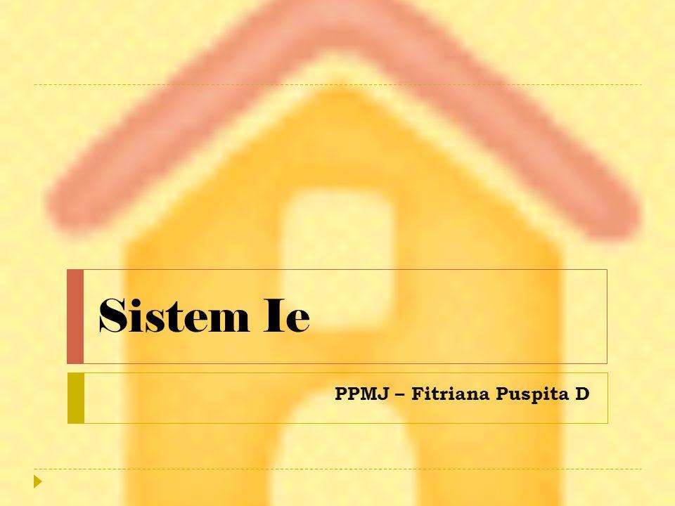 Sistem Ie PPMJ – Fitriana Puspita D