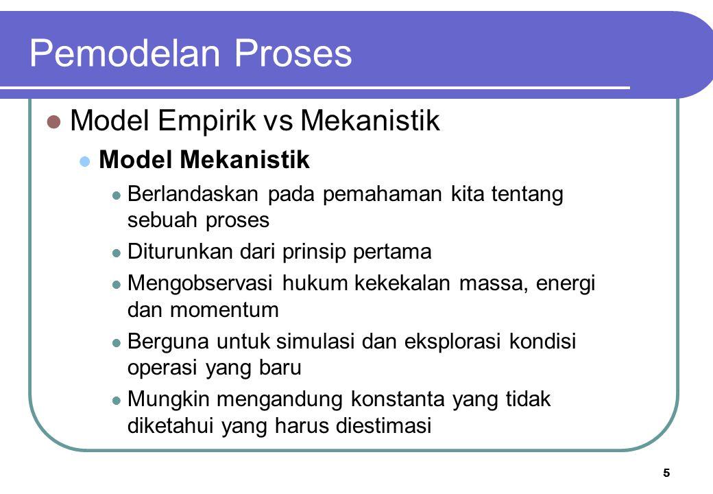 5 Model Empirik vs Mekanistik Model Mekanistik Berlandaskan pada pemahaman kita tentang sebuah proses Diturunkan dari prinsip pertama Mengobservasi hu