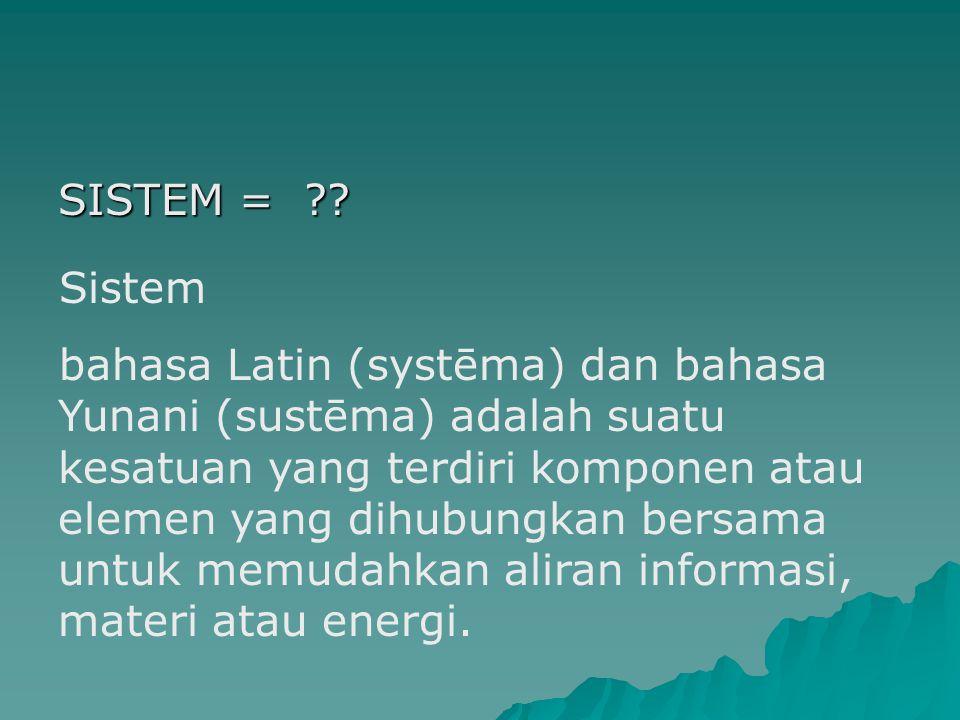 SISTEM = ?.