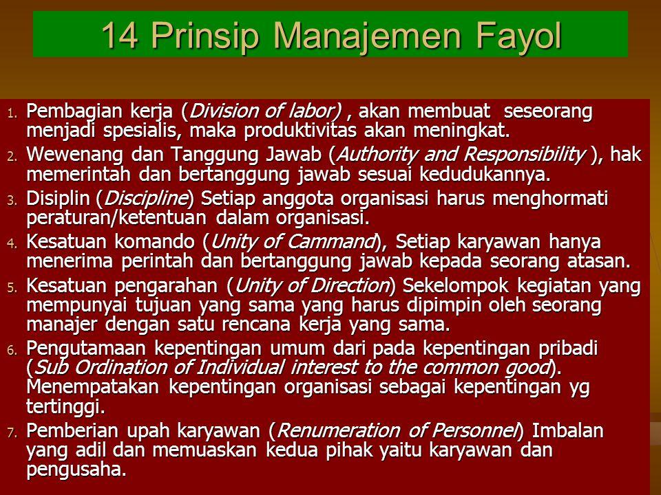 14 Prinsip Manajemen Fayol 1.