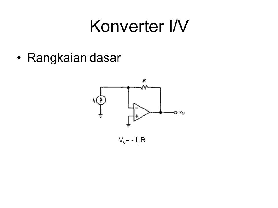 Konverter I/V Rangkaian dasar V o = - i I R