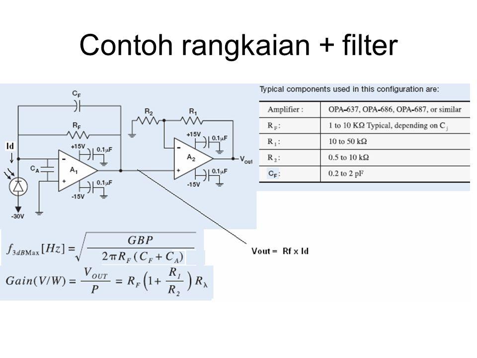 Contoh rangkaian + filter