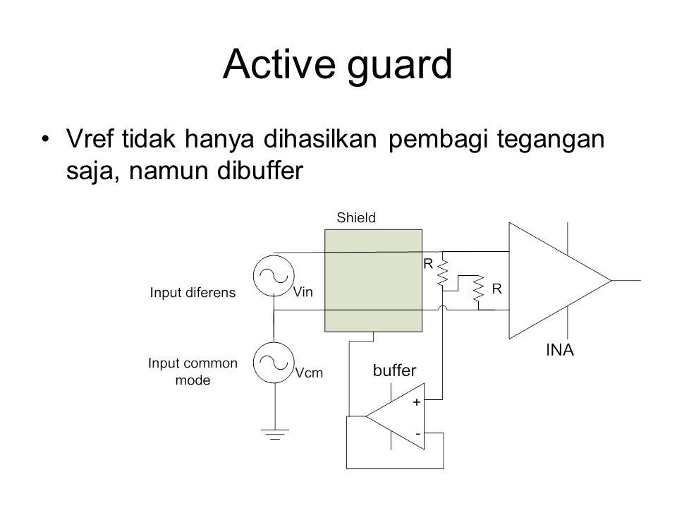 Active guard Vref tidak hanya dihasilkan pembagi tegangan saja, namun dibuffer