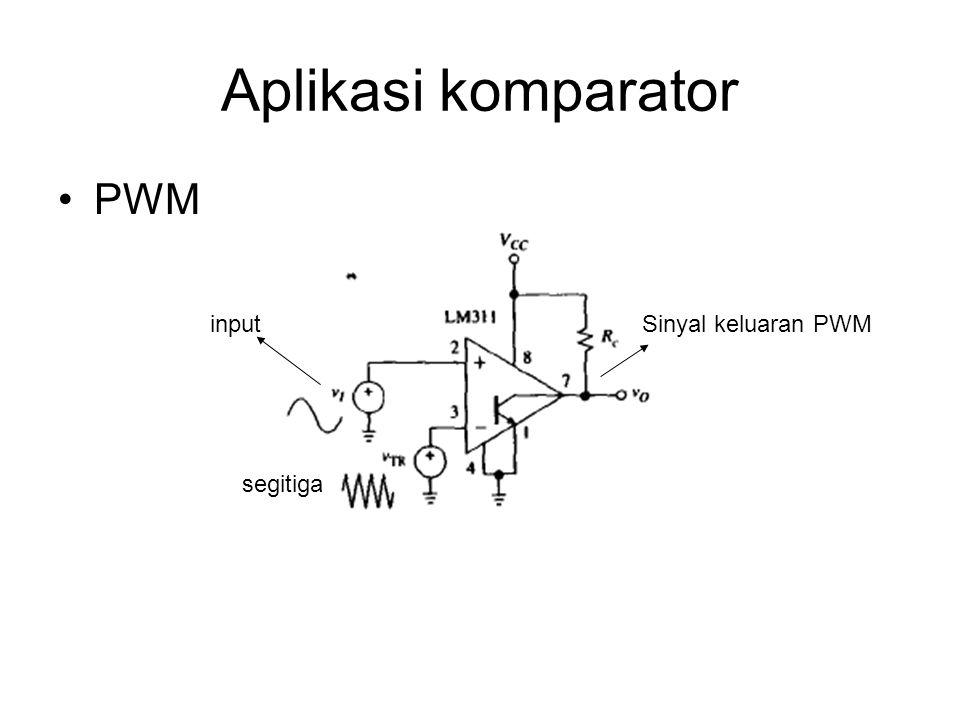Aplikasi komparator PWM input segitiga Sinyal keluaran PWM