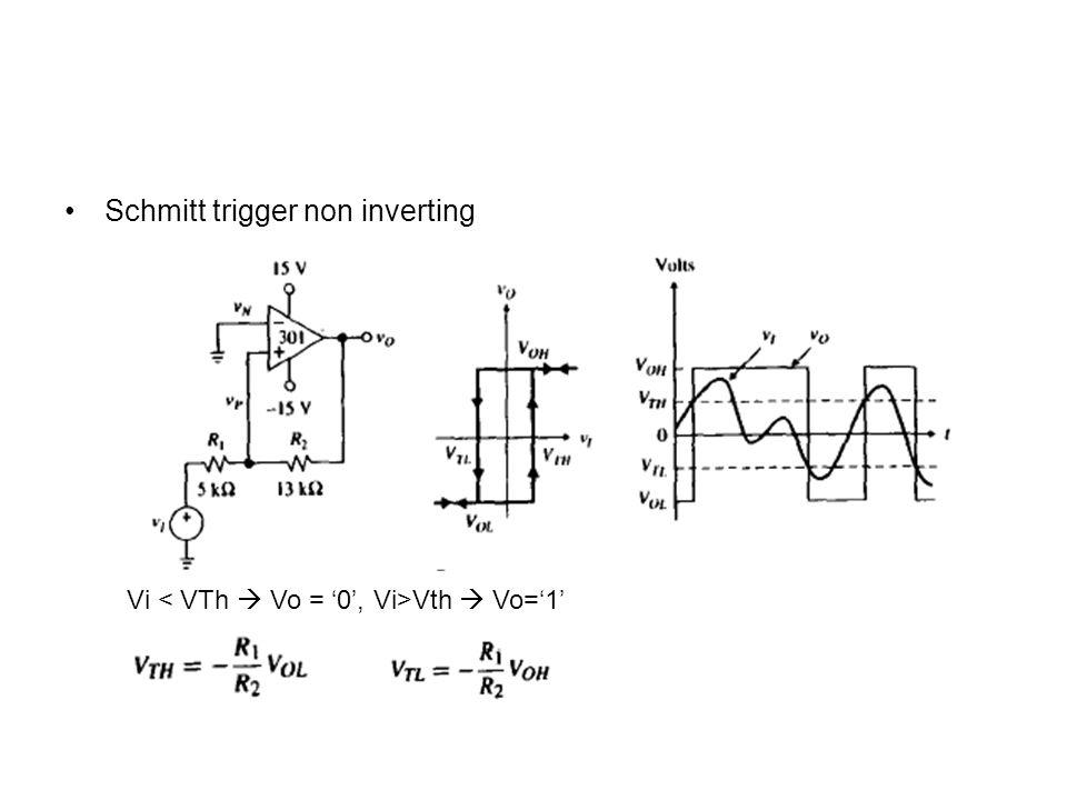 Schmitt trigger non inverting Vi Vth  Vo='1'