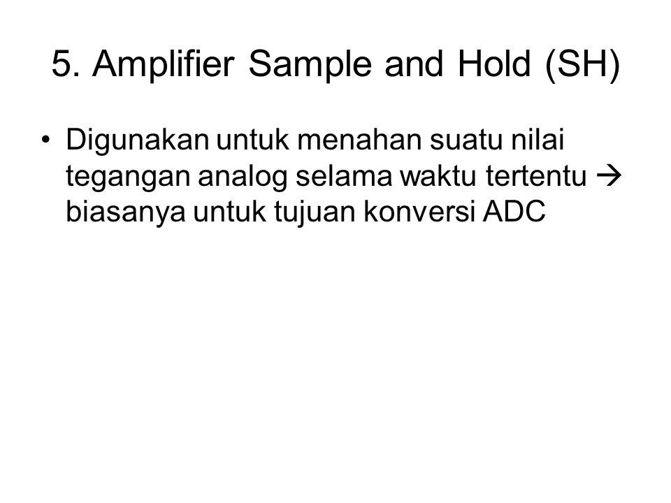5. Amplifier Sample and Hold (SH) Digunakan untuk menahan suatu nilai tegangan analog selama waktu tertentu  biasanya untuk tujuan konversi ADC