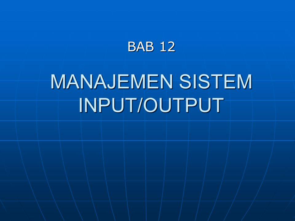 Kernel I/O Subsystem Error Handling (Lanjutan) Sebuah ketentuan umum, yaitu sebuah sistem I/O akan mengembalikan satu bit informasi tentang status panggilan tersebut, yang akan menandakan apakah proses tersebut berhasil atau gagal.