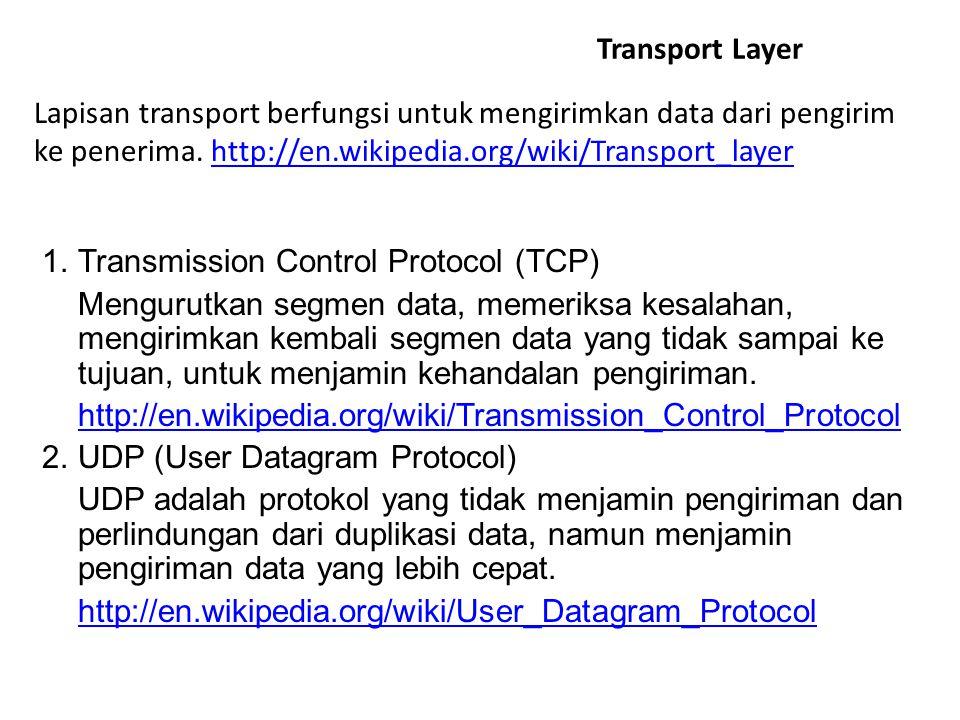 ICMP (Internet Control Message Protocol) Protokol standar yang menyediakan kemampuan messaging (pengiriman pesan) dalam IP sebagai kompensasi dari defisiensi IP(no error-reporting atau error-corecting mechanism) ICMP hanya melaporkan error bukan memperbaiki.