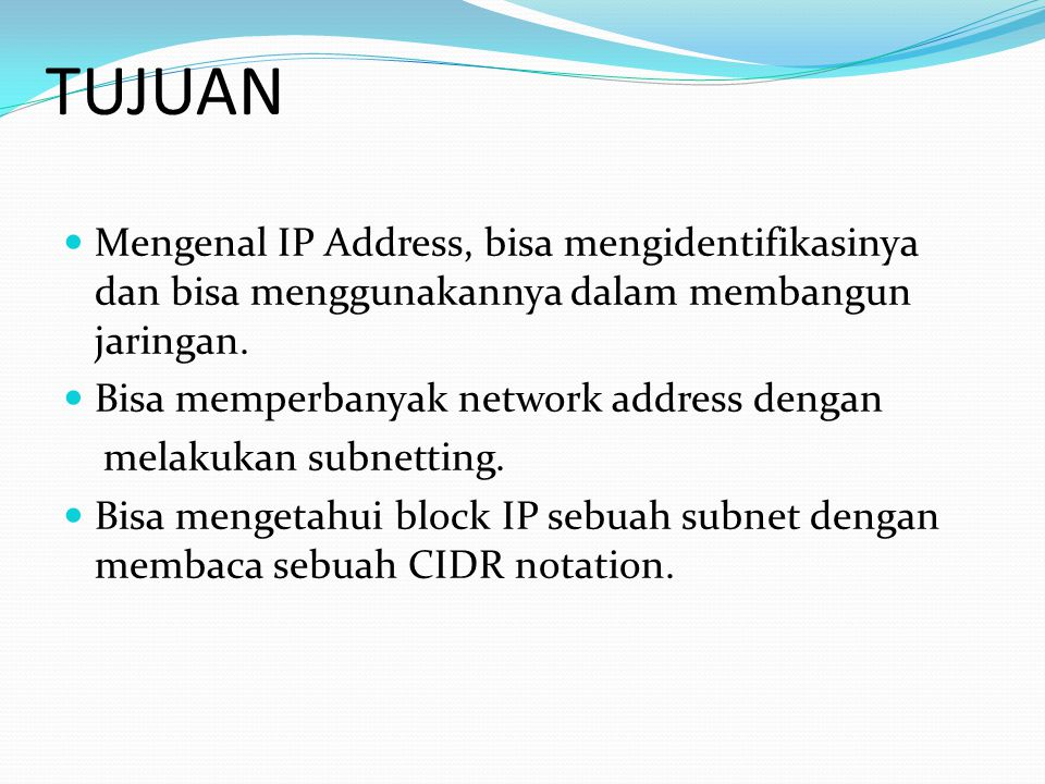 IP ADRESS An IP address is a number that uniquely identifies every host on an IP network.
