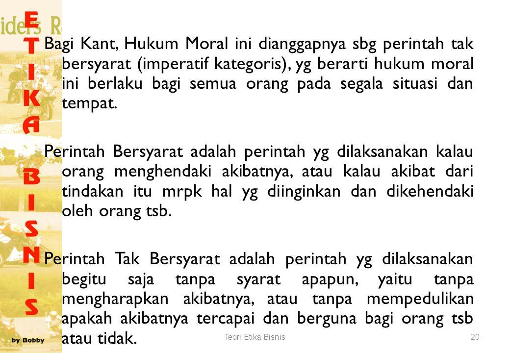 Ada tiga prinsip yg harus dipenuhi : (1)Supaya tindakan punya nilai moral, tindakan ini harus dijalankan berdasarkan kewajiban (2)Nilai moral dari tin
