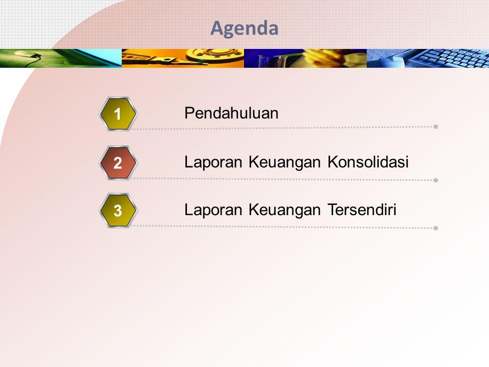 Agenda Pendahuluan 1 Laporan Keuangan Konsolidasi 2 Laporan Keuangan Tersendiri 3