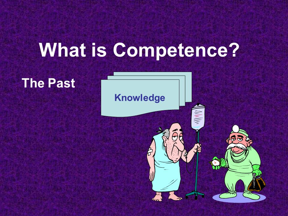 What is Competence? Knowledge Skill The Past