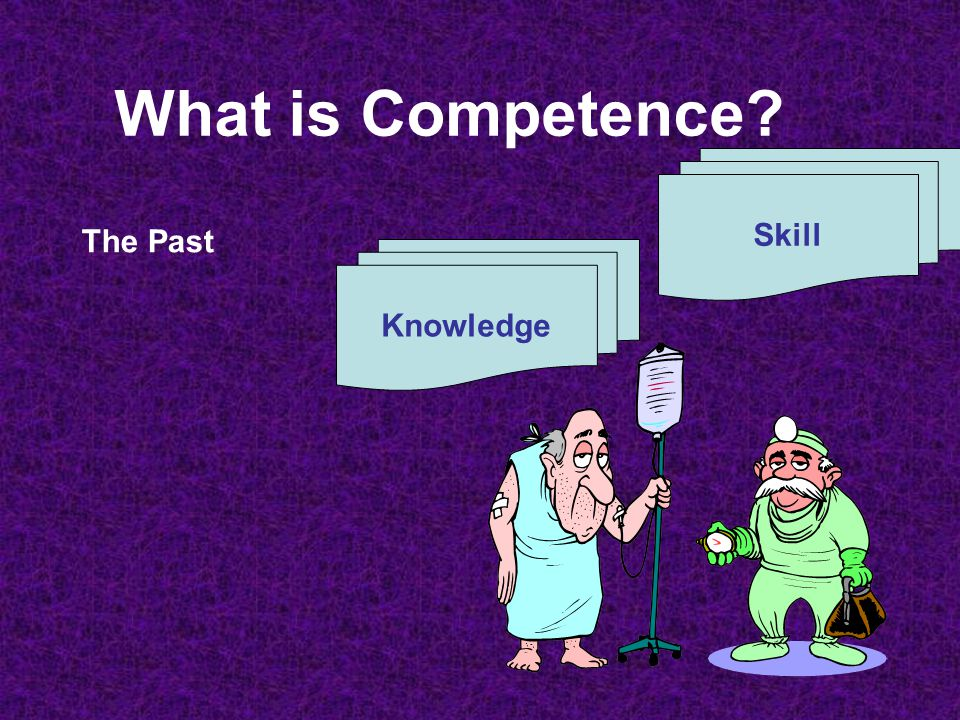What is Competence? The Present Knowledge Skill Attitude/ Behaviour = Competence