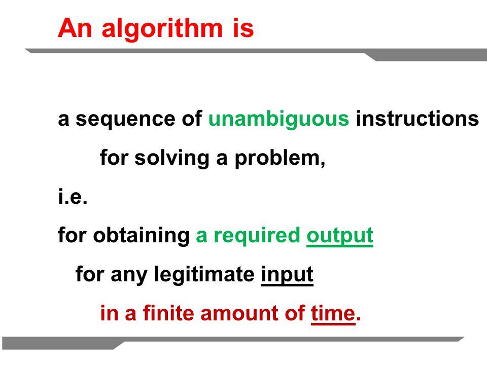 What is algorithm.