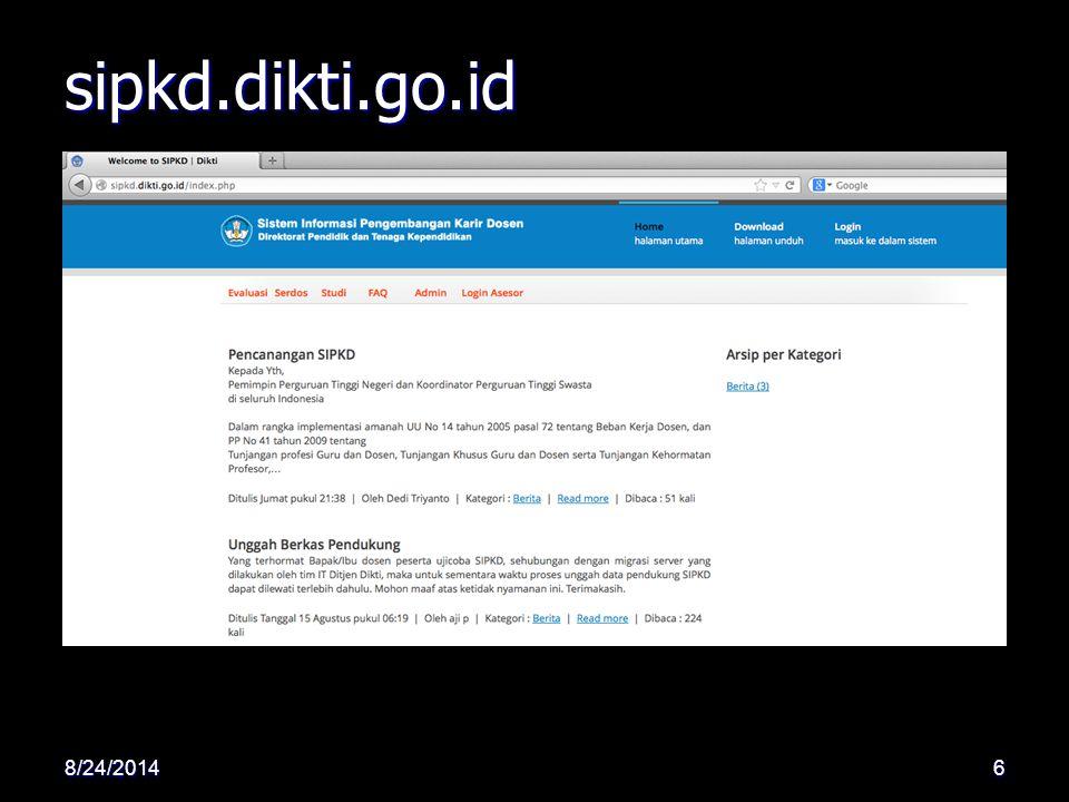 sipkd.dikti.go.id 8/24/20146