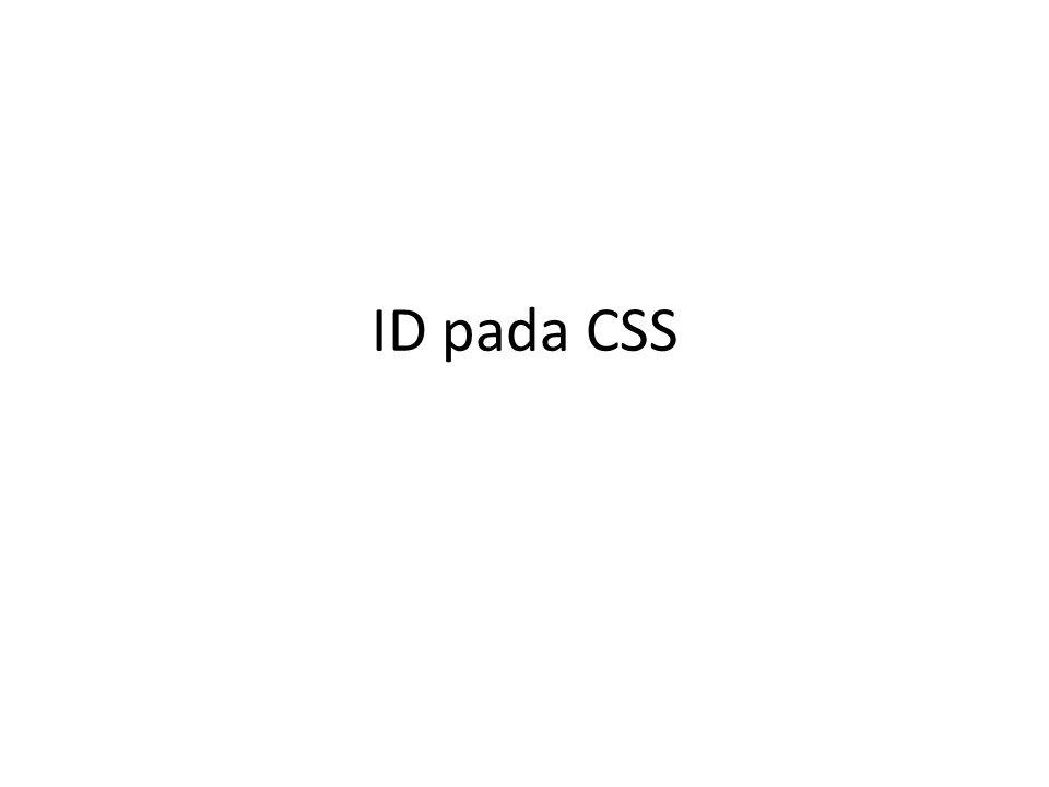 ID pada CSS