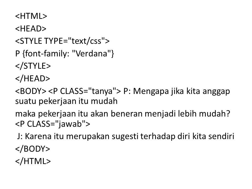 P {font-family: