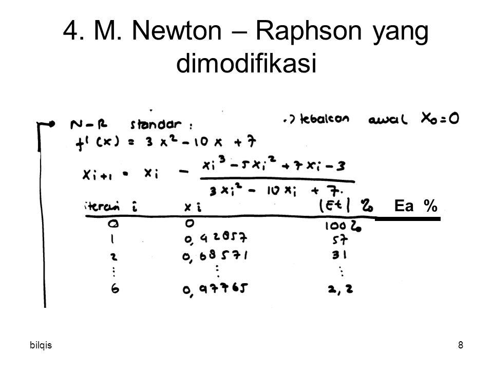 bilqis9 4. M. Newton – Raphson yang dimodifikasi Ea %