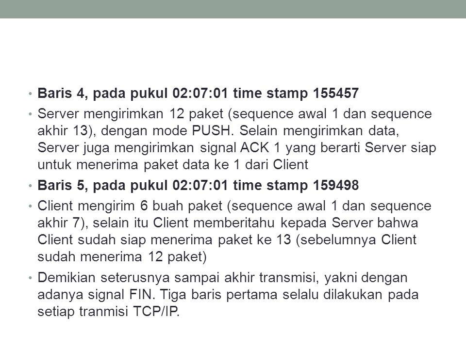  Analisa paket data dengan Ethereal Analisa transmisi data TCP/IP (6)
