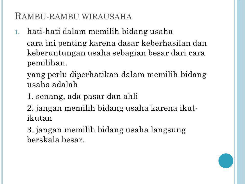 R AMBU - RAMBU WIRAUSAHA 1.