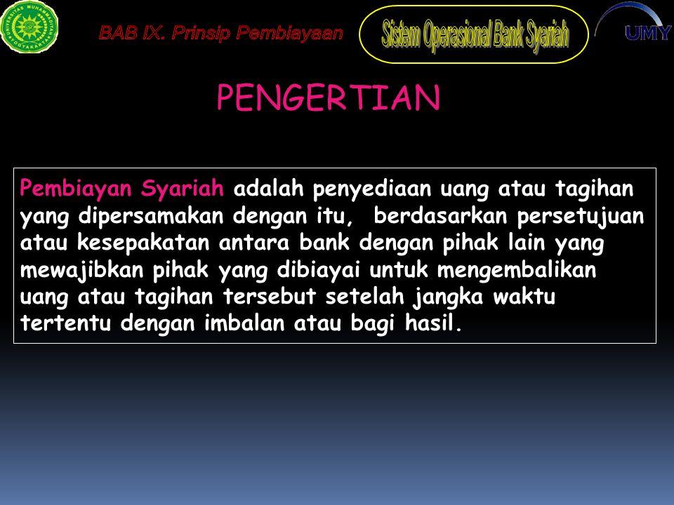 IMPLEMENTASI PERBANKAN  Dalam Perbankan Syariah dapat diilustrasikan sbb : 1.