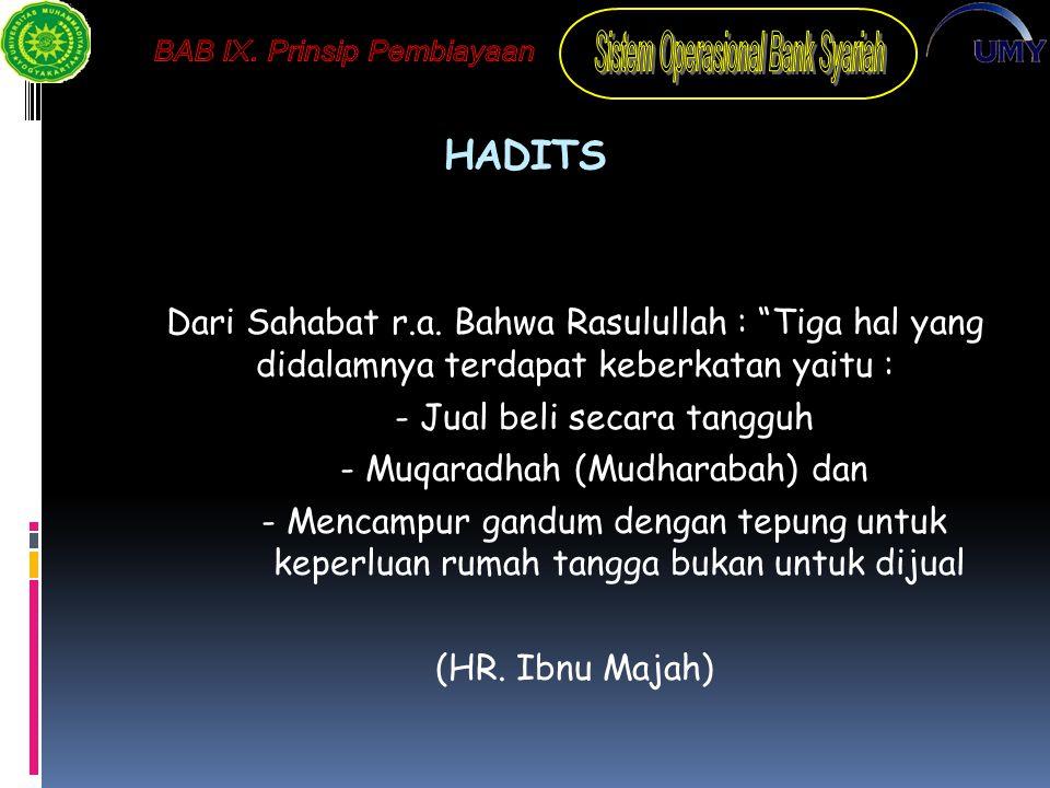 HADITS Dari Sahabat r.a.