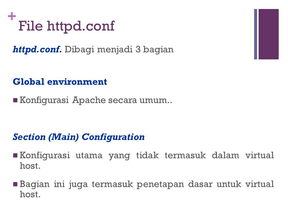 + File httpd.conf httpd.conf.